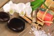 Seifenstücke, Bambus, Orchideen