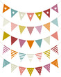 5 Seamless Festoons Curve Retro Colour Pattern