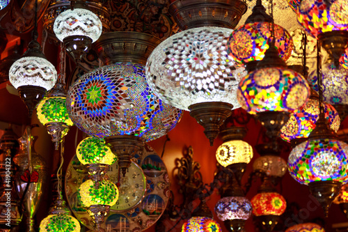 Turkish lamps in the Grand Bazaar, Istanbul, Turkey