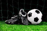 Fototapety soccer ball and cleats