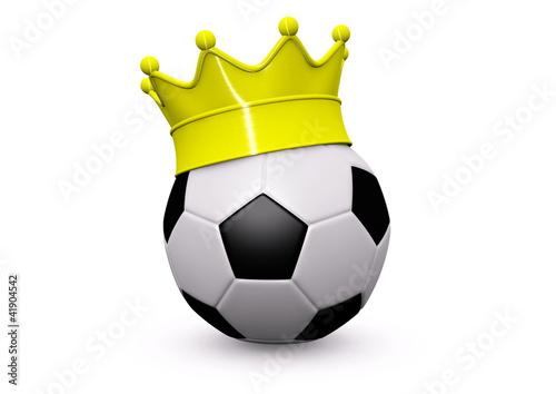 Fussball mit Krone