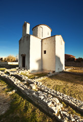 church of the Holy cross, built in the 9th century. Nin.