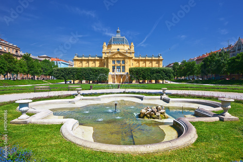 art pavilion in Zagreb. Croatia