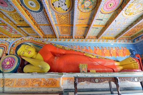 Reclining Buddha at Isurumuniya Vihara in Anuradhapura,Sri Lanka
