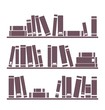 Book on the shelf vector simply vintage illustration