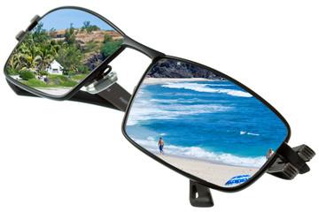 lunettes solaires, vacances à l'île de la Réunion