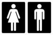 Toilet symbols simple
