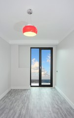 A new empty room with sea view