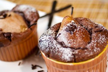 Schoko Birnen Muffin