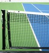 tennis net and alley