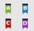 Collection of vector retro ribbons