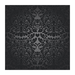 Seamless silver batik wallpaper