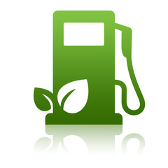 Cabine d'essence verte