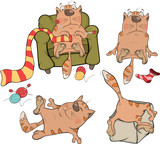 The company of cheerful cats cartoon