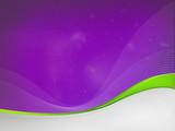 Violet background dizzy, green waves