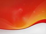 Red-Orange background dizzy, red waves