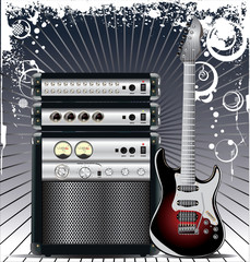 Guitar Combo music background