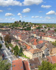 Aerial of Cremieu from Saint-Hippolyte Hill