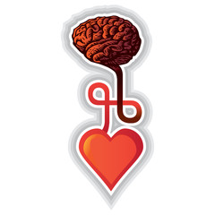 connection between heart and brain - illustration