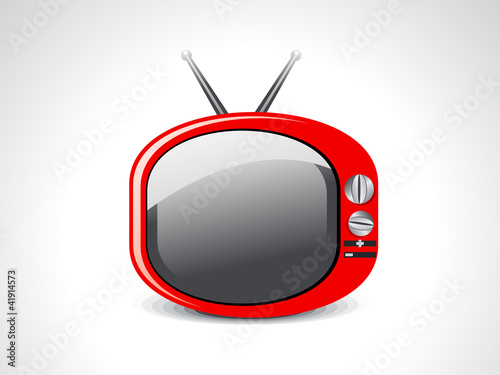 abstract glossy television icon