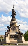 Christopher Columbus monument in the center of Valladolid, Spain