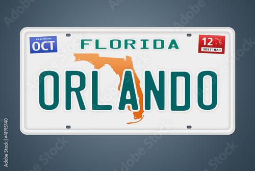 Nummernschild Florida Orlando