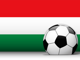 Hungary Soccer Ball with Flag Background