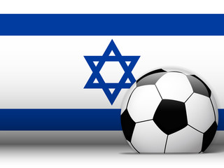 Israel Soccer Ball with Flag Background