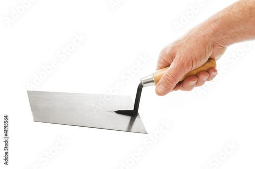 Builder Hand With Trowel