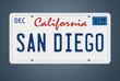 Nummernschild CA San Diego