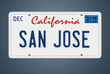 Nummernschild CA San Jose