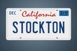 Nummernschild CA Stockton