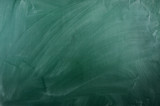 close up of an empty school green  chalkboard