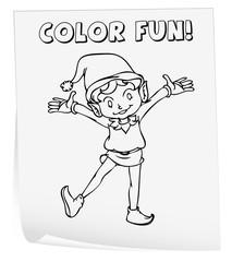 Coloring worksheet