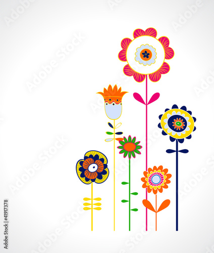 poster of popart floral background