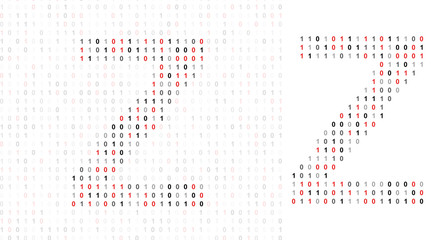 Letter Z, alphabet from binary code