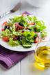 Green salad with black olives