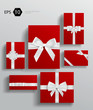 Vector gift wrapping collection