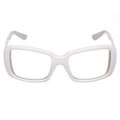 white glasses isolated on white