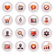 Basic web icons. Black red series.