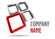 Company business 3D logo rectangle desing