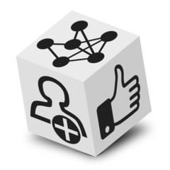 cube 3D, soziales Netzwerk, Freunde
