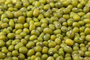 Abstract background: Green mung beans
