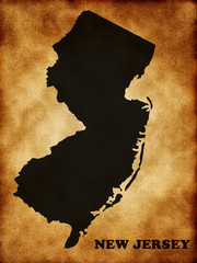 Map of New Jersey state. Usa