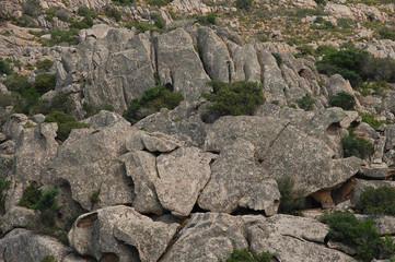 puzzle di granito composto dalla natura