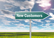 "Signpost ""New Customers"""