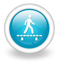 "Light Blue Icon ""Walk On Boardwalk"""