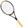 Tennisschläger schwarz / orange