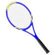 Tennisschläger blau / gelb