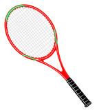 Tennisschläger rot / grün